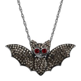 Bat Pendant with Crystals