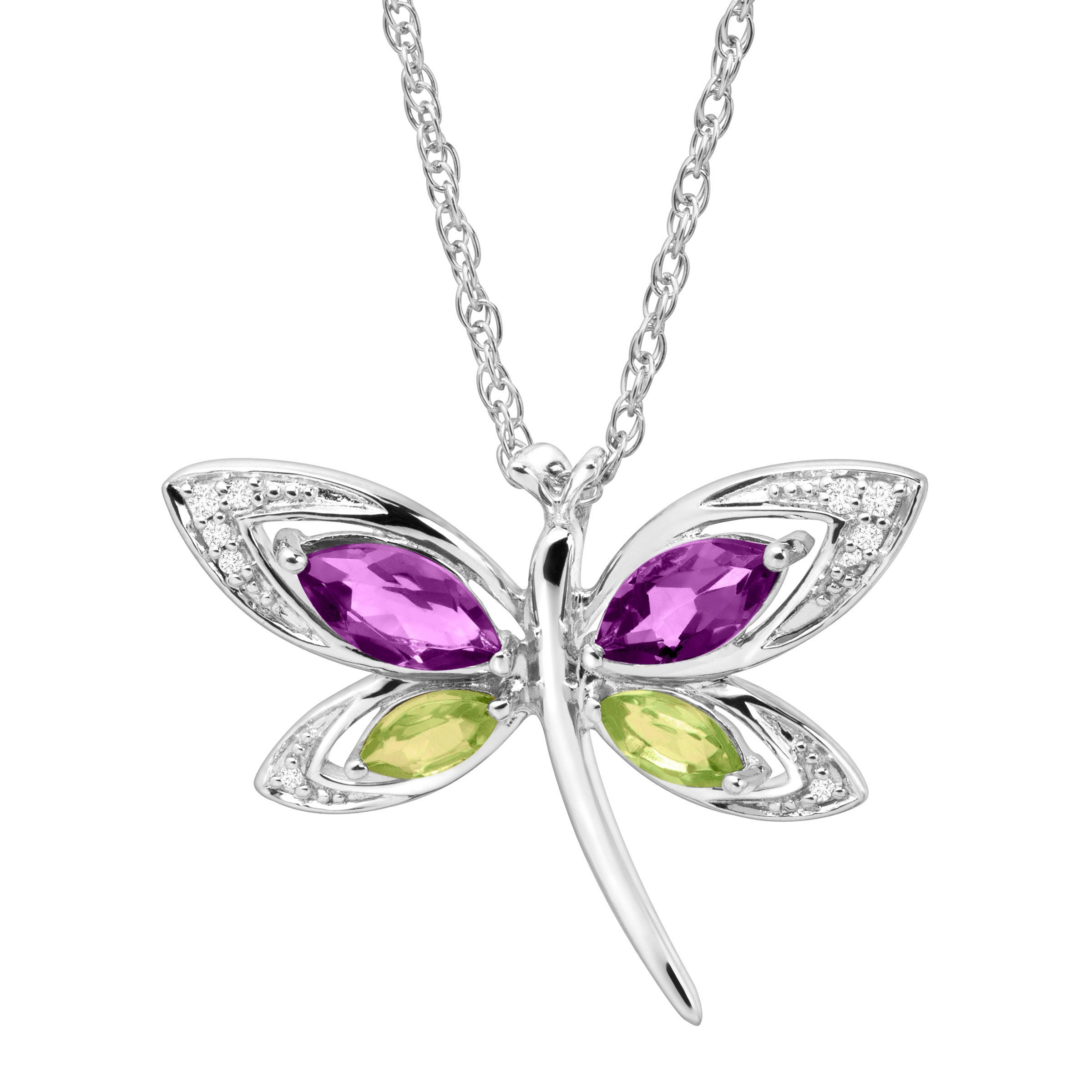 dragonfly mc necklace jewelry ff color crystal multi firefly pendant mosaic large