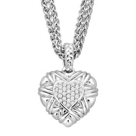 1/5 ct Diamond Heart Pendant