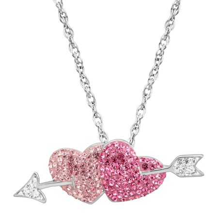 5bb25109d Crystaluxe Double Heart & Arrow Pendant with Swarovski Crystals in ...