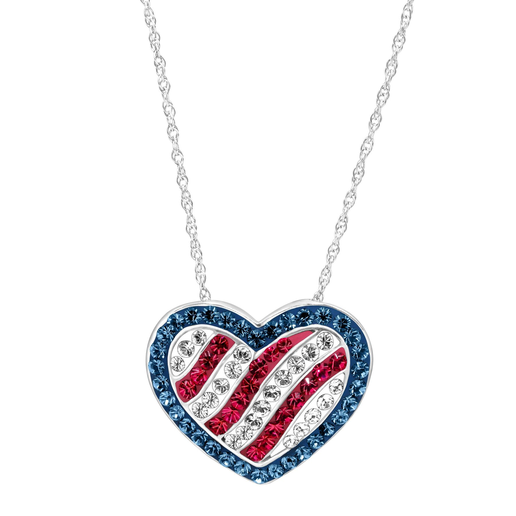 inch free allergy american for flag pendant necklace jewelry with hypoallergenic nickel safe simplywhispers rope silver