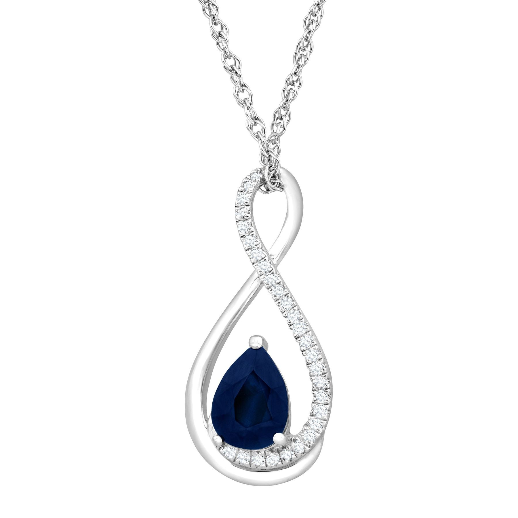 shaped clover and turgeon product necklace diamond sapphire raine