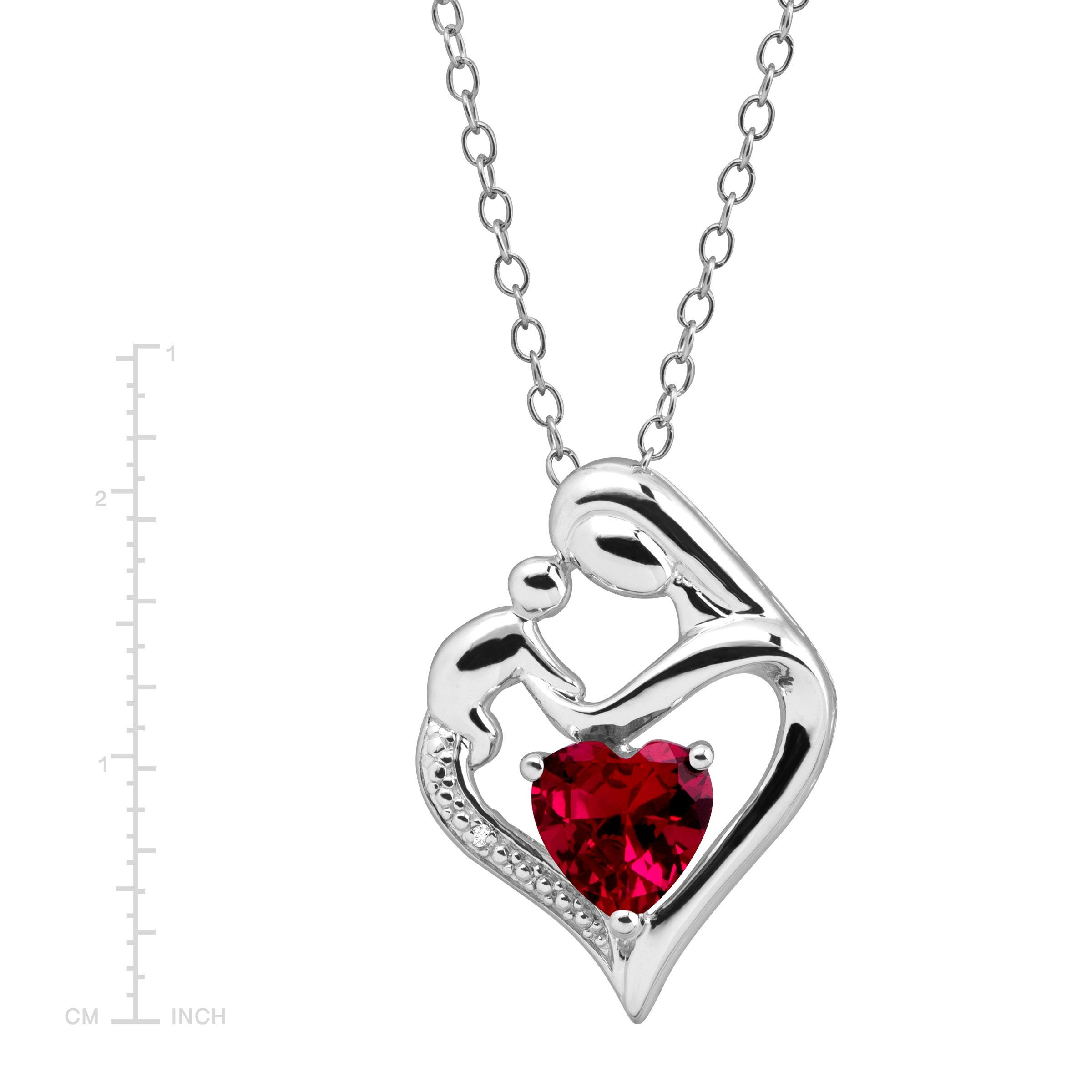 heart child necklace diamond inch sterling on products and pendant mother an silver chain