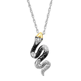 Snake Pendant with Diamonds