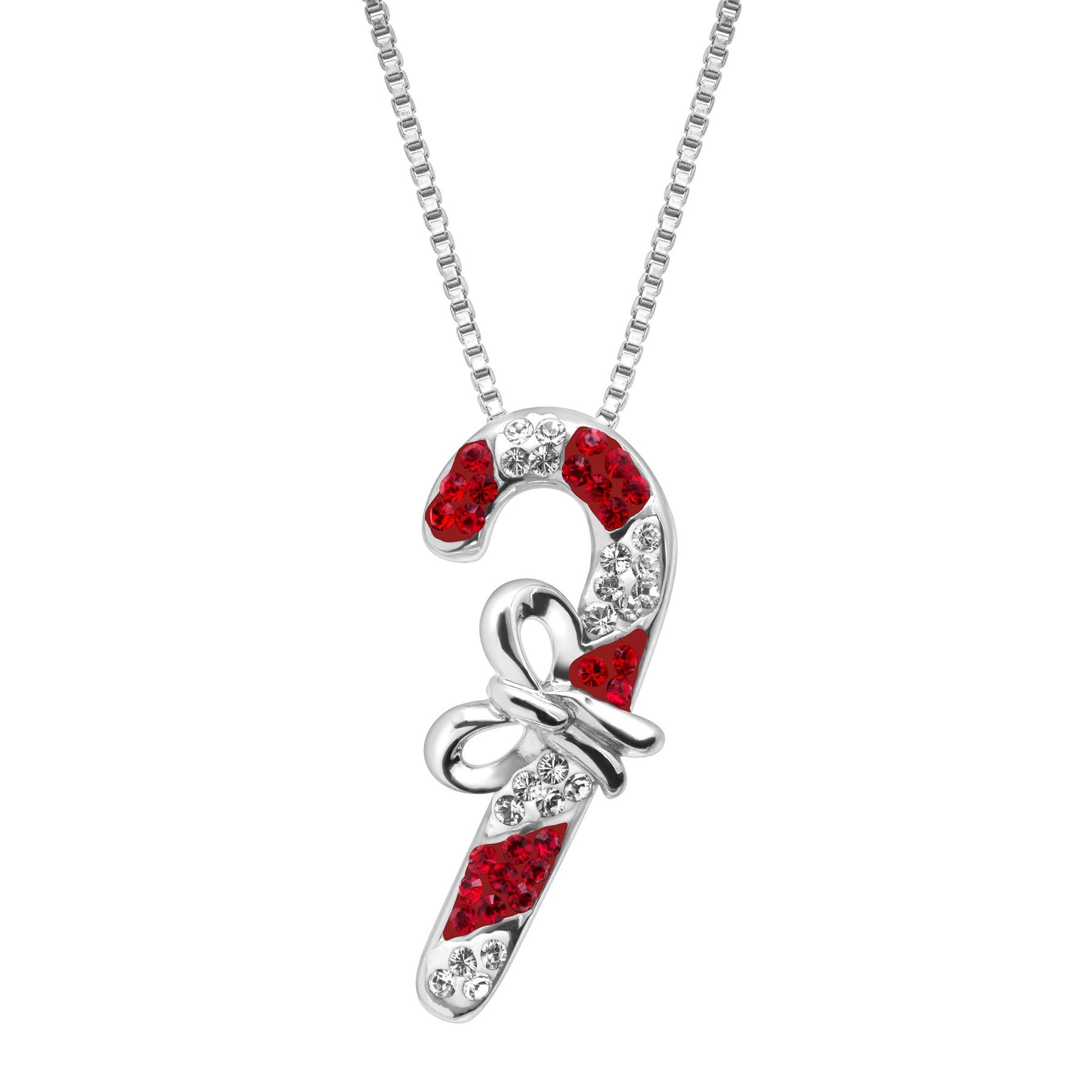 Crystaluxe Candy Cane Pendant with Swarovski Crystals