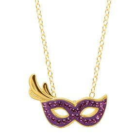 Party Mask Pendant with Swarovski Crystals
