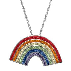 Rainbow Pendant with Swarovski Crystals