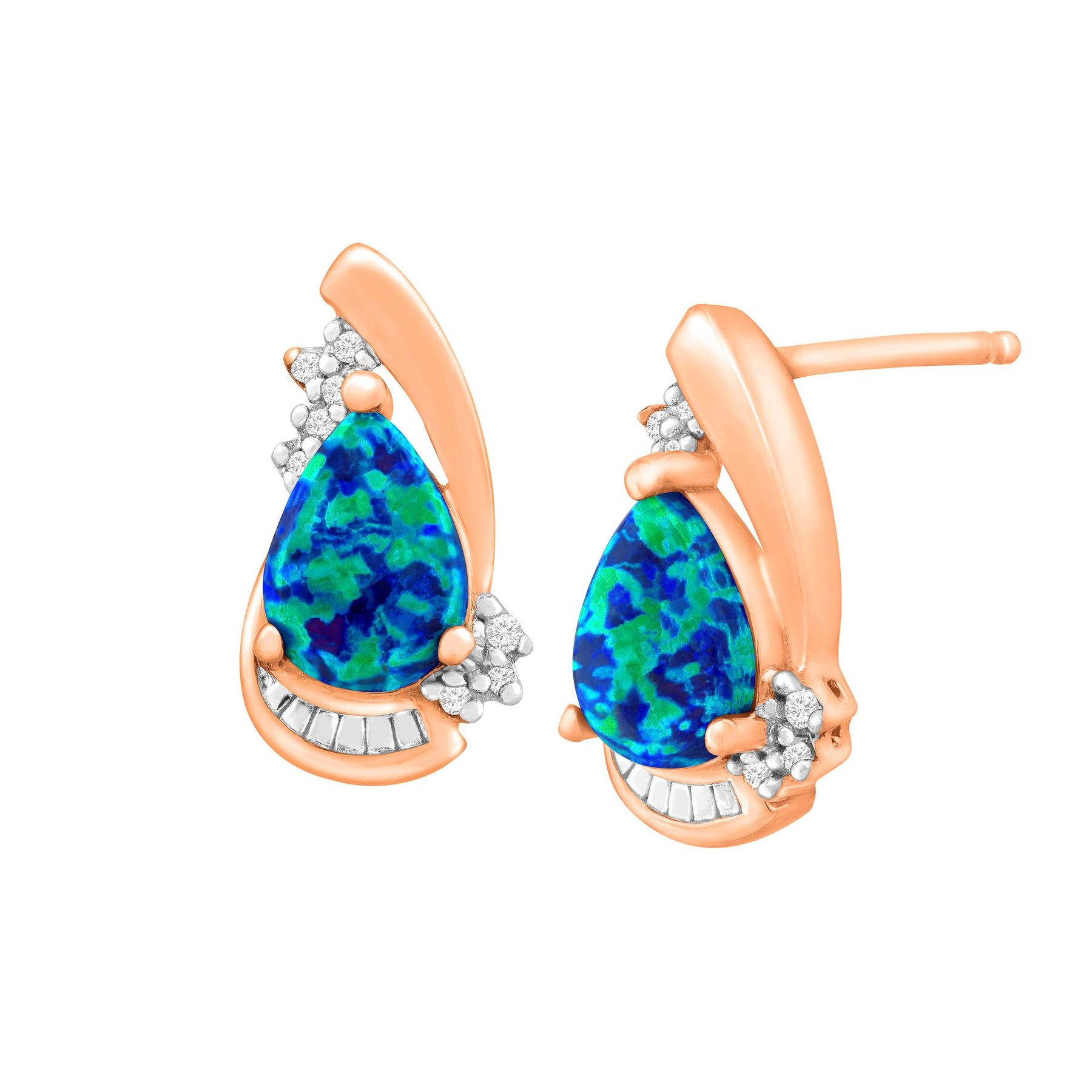 dowdy opal and gold blue store earrings