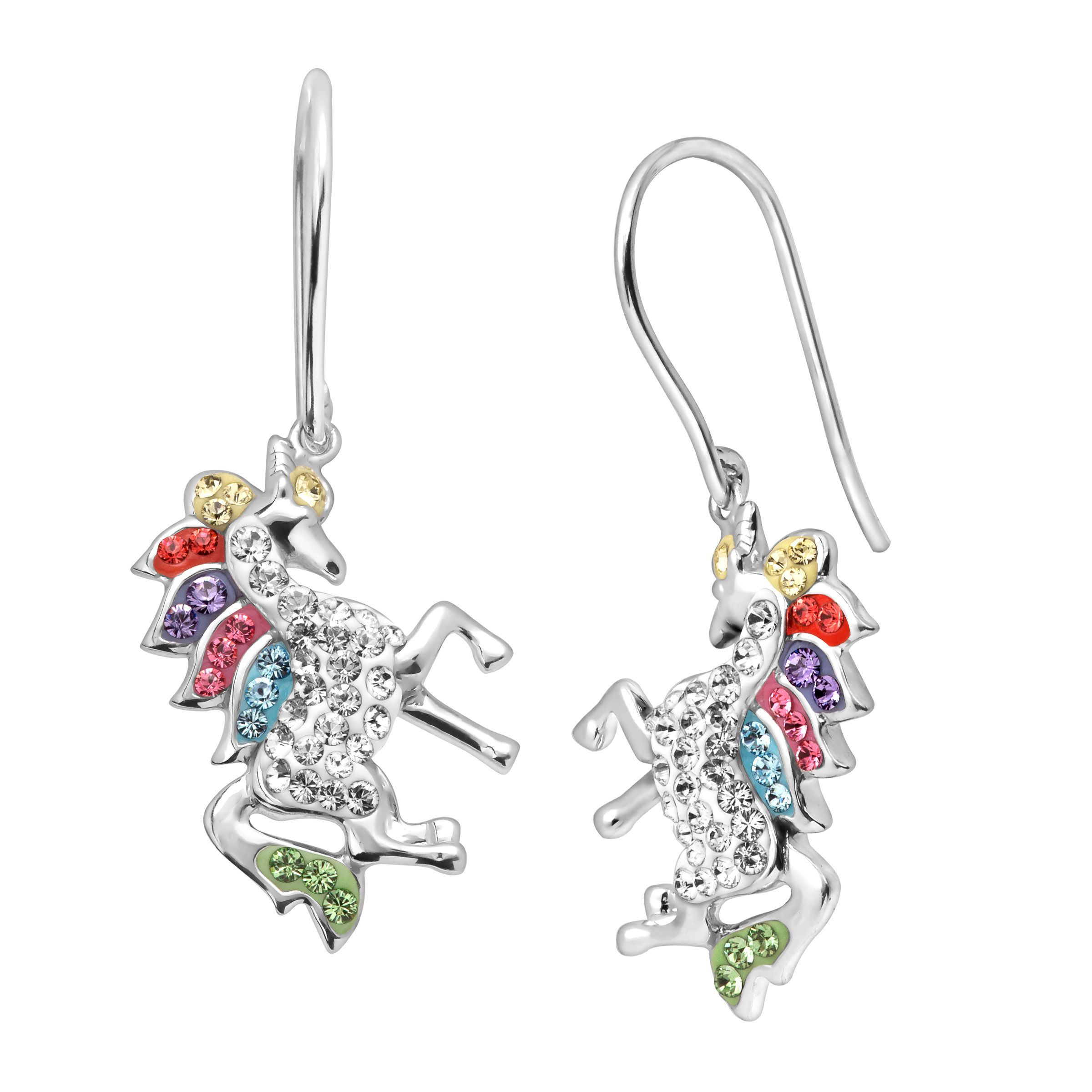 2b94444e2 Crystaluxe Unicorn Drop Earrings with Swarovski Crystals in Sterling Silver