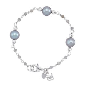 8-9 mm Grey Pearl & Iolite Bracelet