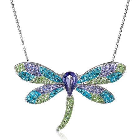 0a1ecf3d3 Crystaluxe Dragonfly Pendant Necklace with Swarovski Crystals in ...