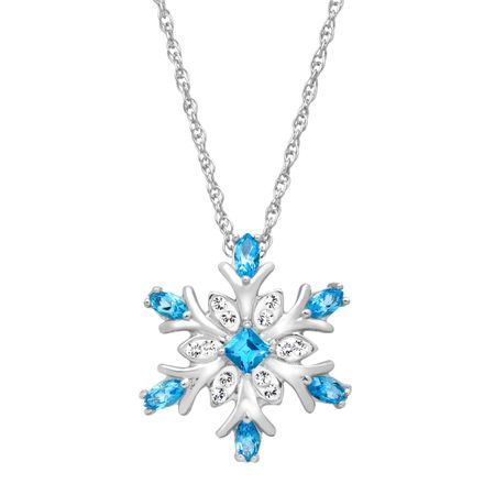 7590f569b3 Crystaluxe Snowflake Pendant with Sky Blue and White Swarovski ...