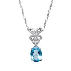 1 3/8 ct Swiss Blue Topaz Pendant