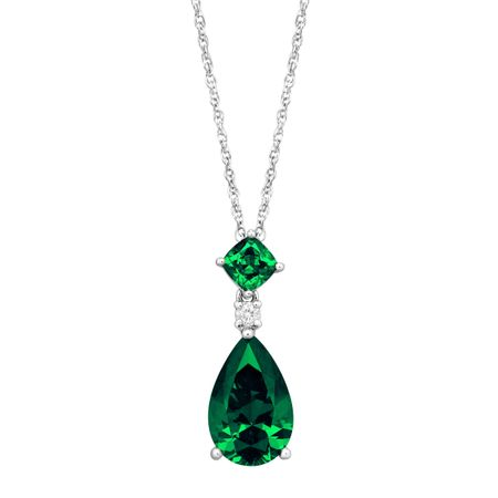 Pendant with Green Swarovski Zirconia
