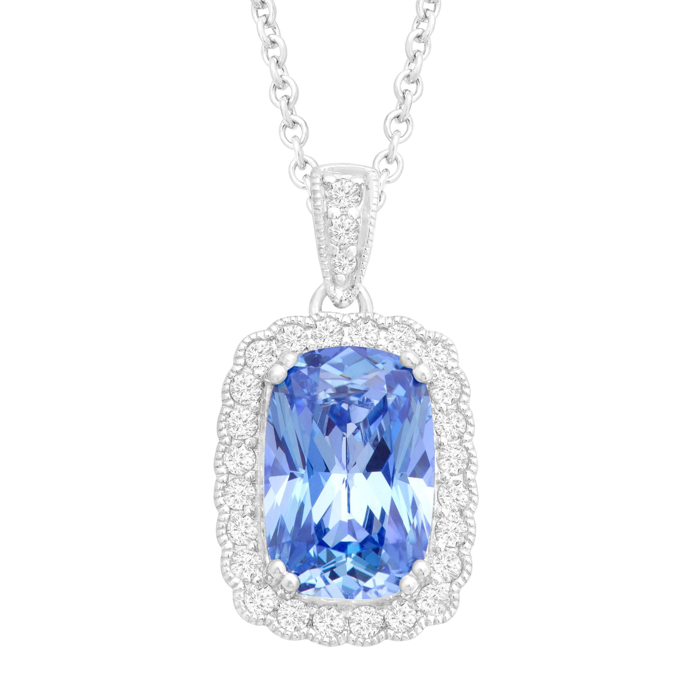oval preciosa silver with pendant crystal dfbb clay chatons buy by blue princess necklace in scottish products
