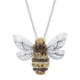 Bumblebee Pendant with Crystals