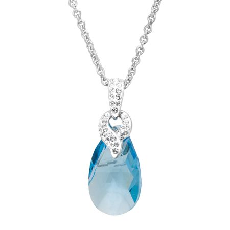 ffa1dbaf5 Crystaluxe Pendant with Sky Blue Swarovski Crystal in Sterling ...