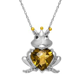 3 ct Quartz Frog Pendant