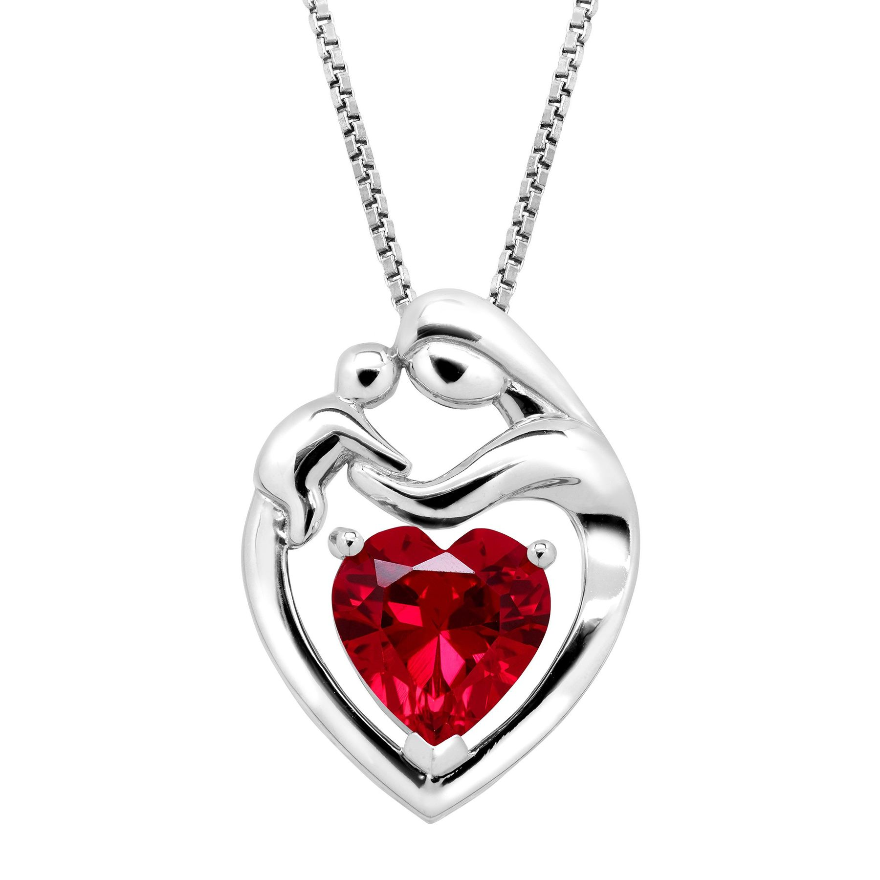 ct gold and pendant diamonds jewelry created child in with mother silver sterling ruby