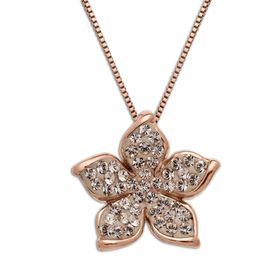 Flower Pendant with Swarovski Crystals