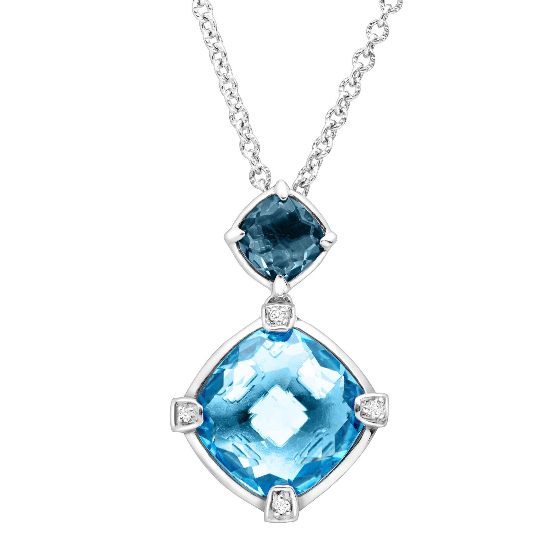 Swiss /& Sky Blue Topaz Drop Earrings in Sterling Silver 3 5//8 ct London