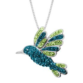 Hummingbird Pendant with Swarovski Crystals