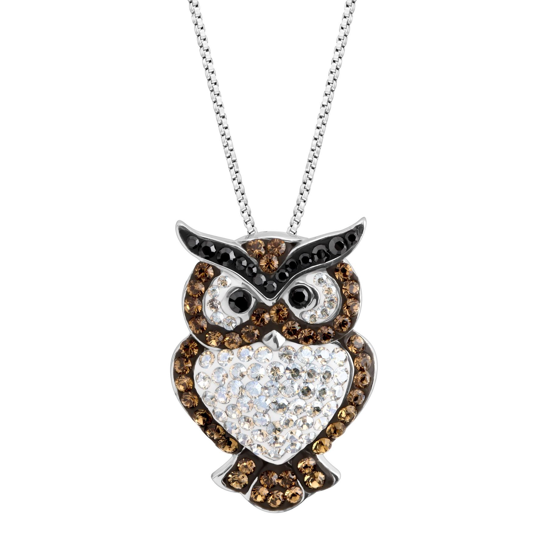 rhinestone pendant necklace awesome eyes owl jewerly womens shop retro