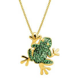 Frog Pendant with Swarovski Crystals