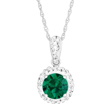 May Pendant with Green Swarovski Crystal