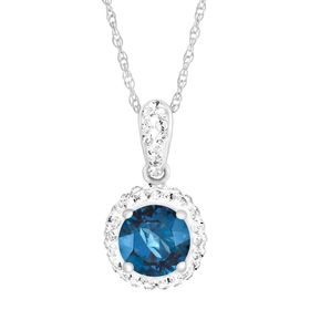 September Pendant with Royal Blue Swarovski Crystal
