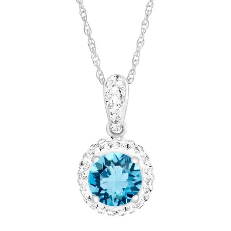 March Pendant with Light Blue Swarovski Crystal