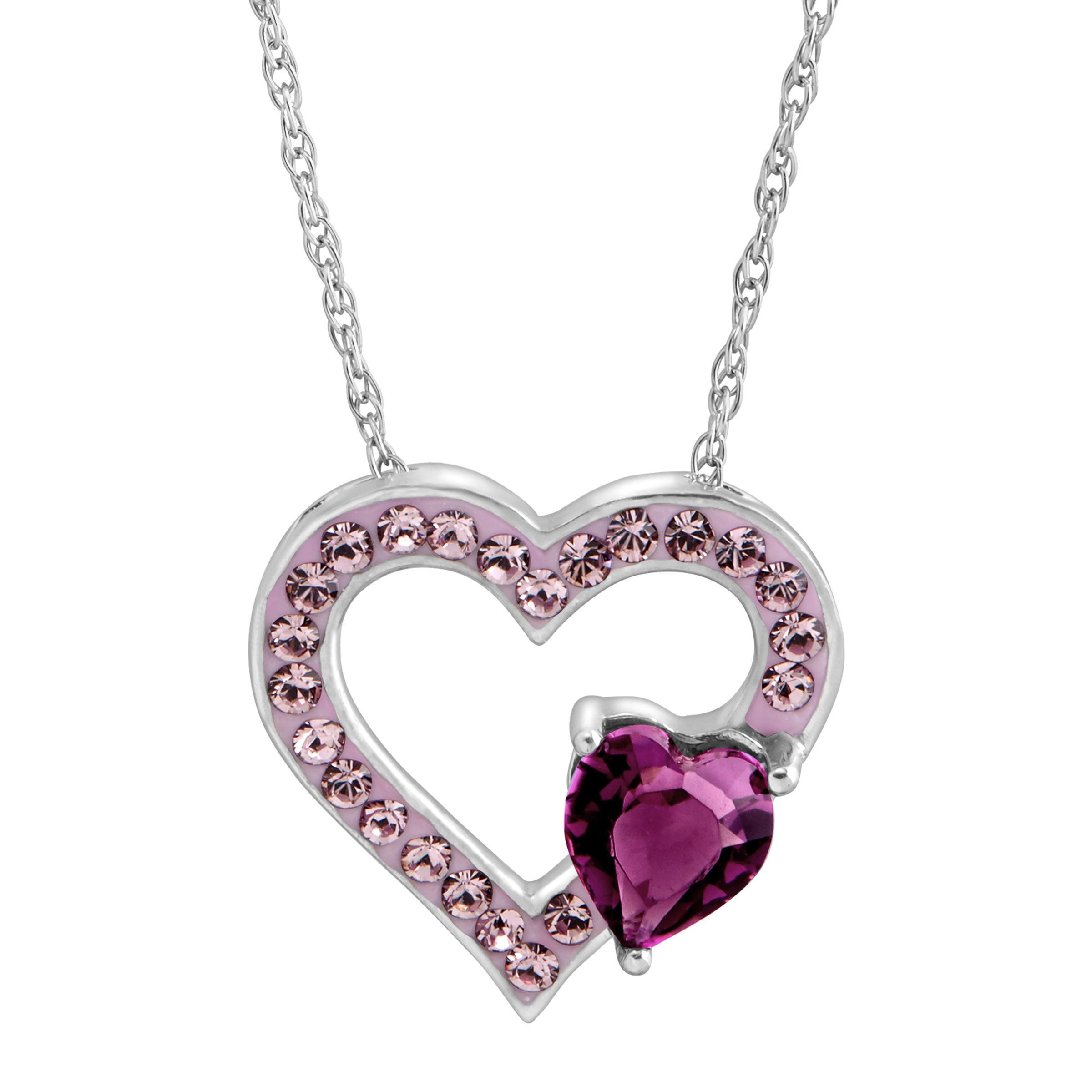 purple druzi perfumes necklace on magenta charm products jewelry heart dark silver match pendant sterling chain opal