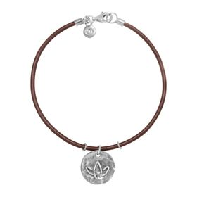 Hammered Lotus Flower Charm Bracelet