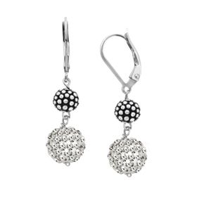 Ball Drop Earrings with Swarovski Crystals