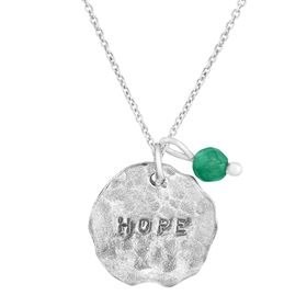 'Hope' Charm Pendent with Aventurine