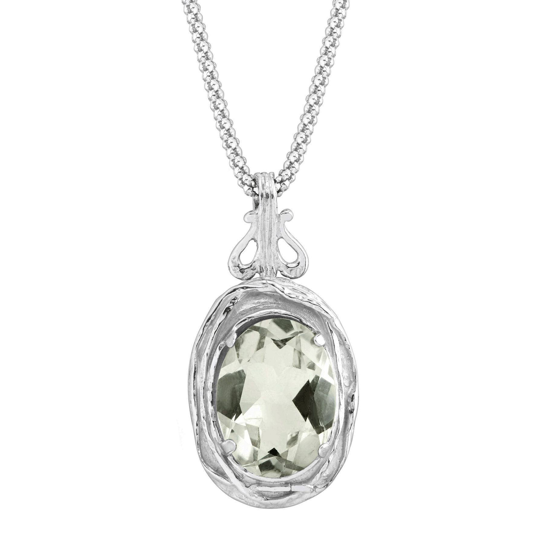 framed lunessa products necklace green amethyst