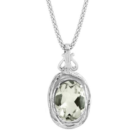 quot chain green sterling amethyst pendant silver vir dp with ct