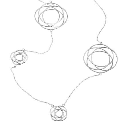 Large Interlocking Circle Station Necklace