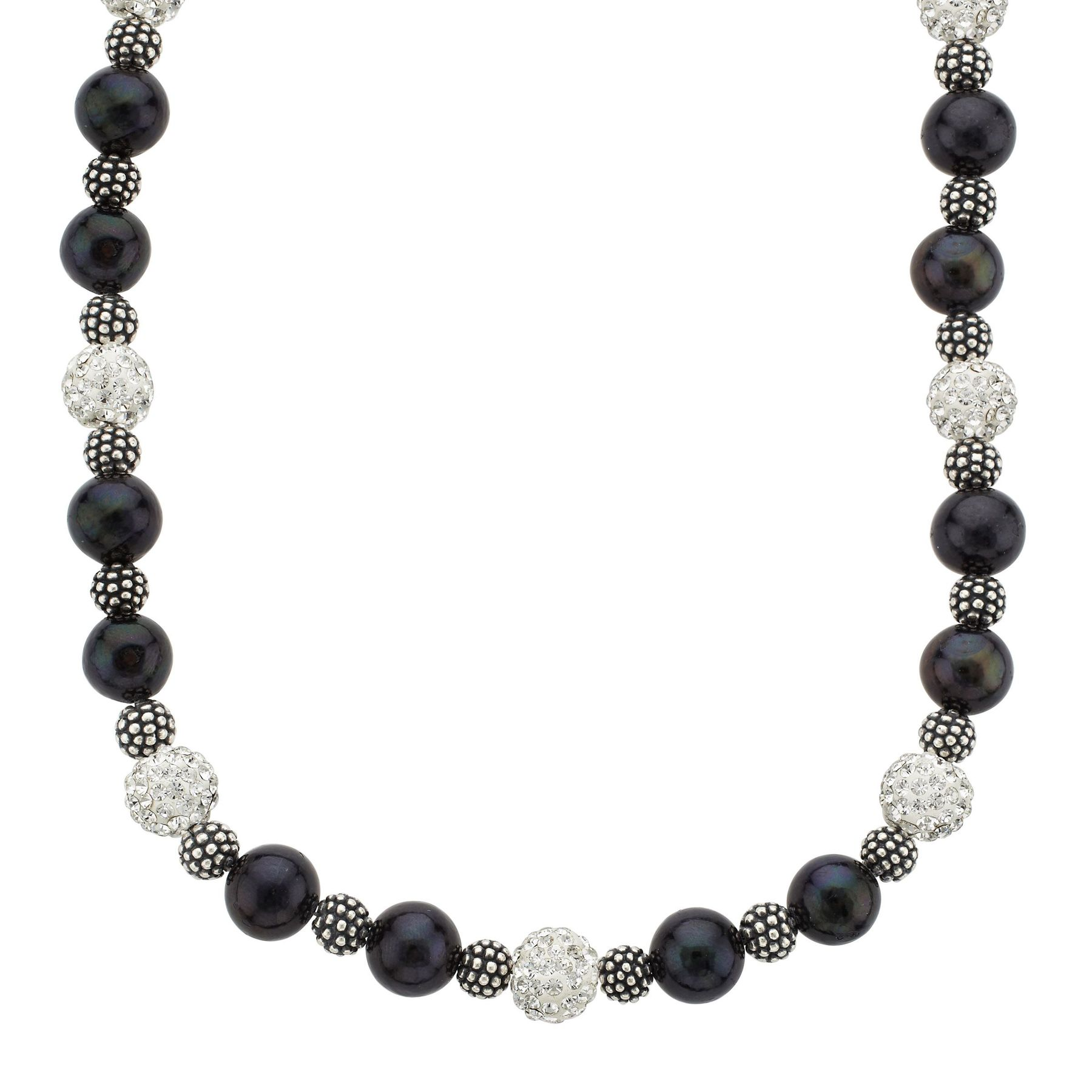 smith pearls genuine accessories pearl black grey rice boston necklace shop classic
