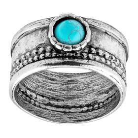 Turquoise Cabochon Band Ring