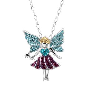 Fairy Pendant with Multi-Colored Crystals