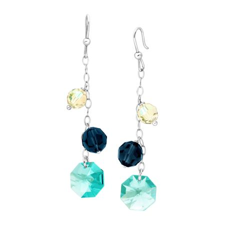Dangle Drop Earrings with Swarovski Crystals