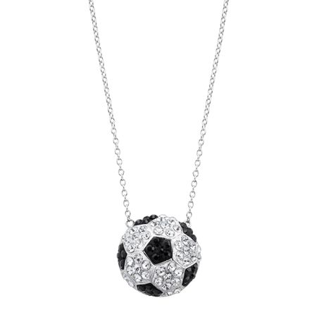 Soccer Ball Pendant with Swarovski Crystals