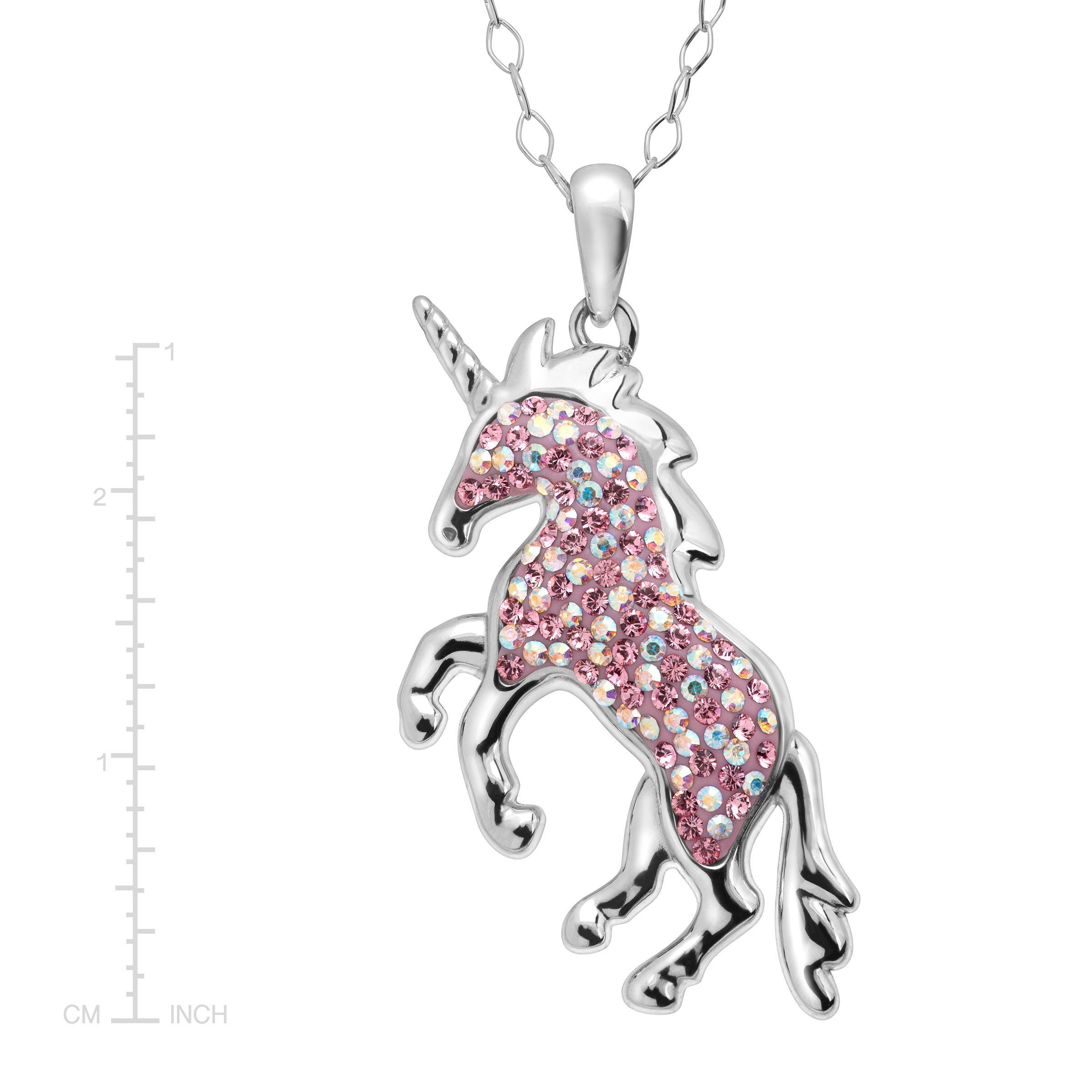 unicorn silver magical necklace pendant quirky cute