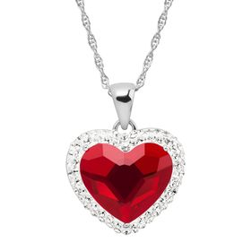 Heart Halo Pendant with Swarovski Crystals