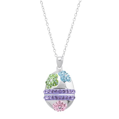Easter Egg Pendant With Swarovski Crystals