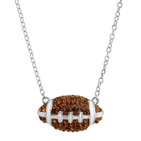 Football Pendant with Swarovski Crystals