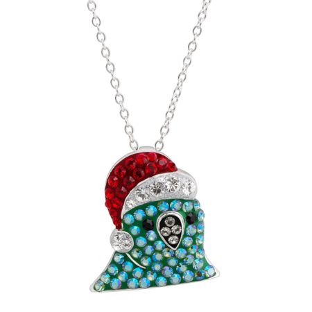 Santa Party Parrot Pendant with Swarovski Crystals