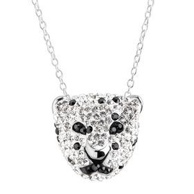 Spotted Panther Pendant with Swarovski Crystals