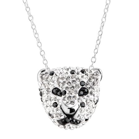 silver signature sterling panther pendant w diamond on shop necklace effy amazing t and tsavorite in ct deal